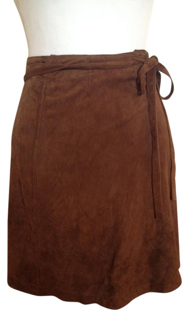 Item - Brown Suede Wraparound Mini Skirt Size 2 (XS, 26)