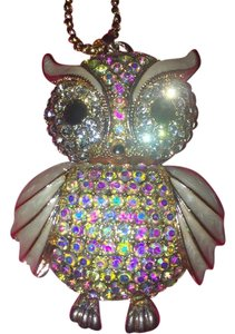 Betsey Johnson Adorable Owl w/ Opalescent Embellishment & Enamel