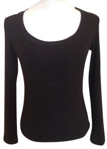 Dolce&Gabbana Cotton Scoop Neck Longsleeve Top Black