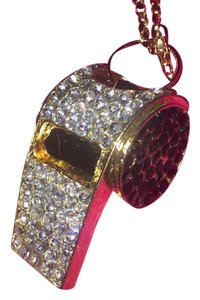 Betsey Johnson Adorable Whistle w/ Rhinestone Embellishment & Enamel