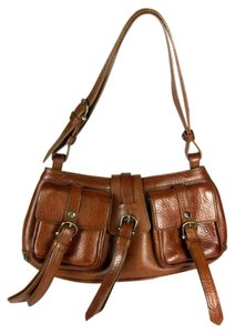 Burberry Prorsum Leather Brown Crossbody Shoulder Bag