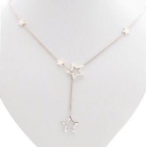 Tiffany & Co. Sterling Silver Star Lariat Necklace