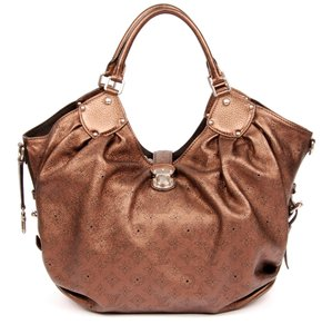 Louis Vuitton Mahina Monogram Embossed Leather Canvas Hobo Bag