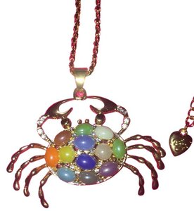 Betsey Johnson Adorable Crab, w/ Crystal Rhinestone embellishment, Reversible Crab
