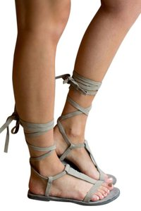 Free People Boho Festival Summer Artisan Dove Gray Sandals