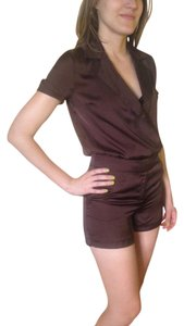 Russian brand Sexy Dressy Romper Cuffed Shorts chocolate