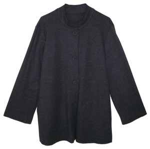 Eileen Fisher Wool Gray Charcoal Jacket