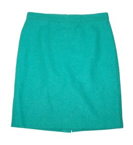 J.Crew Wool Pencil Mini Skirt Teal