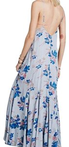 Blue Maxi Dress by Free People Floral Maxi Maxi Lowback Scoop Back Backless