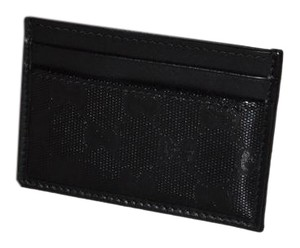 Gucci NEW Gucci Black Imprime Card Holder 233166