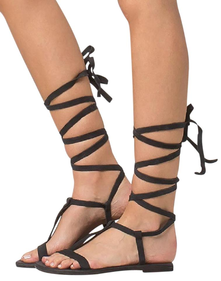 ca5b39f10293 Free People Washed Black Dahlia Bohemian Dream Strappy Eu 40 9.5-10 Sandals.  Size  US 10 Regular (M ...
