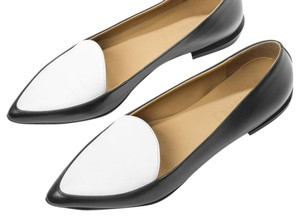 Everlane Black + White Flats