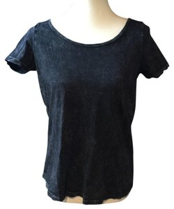 Truly Madly Deeply Short Sleeve T String Open Tee T Shirt black