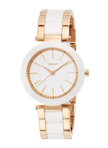DKNY DKNY Women's Stanhope Rose Gold-Tone and White Ceramic Watch NY2500