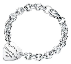 Tiffany & Co. Please Return To Tiffany & Co Heart Tag Bracelet 7.5