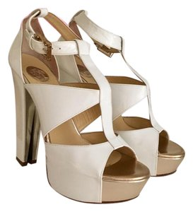 Versace Ivory-Gold Pumps