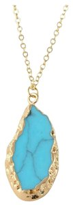 Other Boho Gold And turquoise long necklace