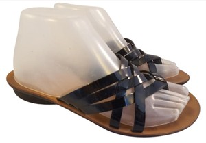 Paul Green Patent Leather Black Sandals