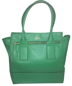 Kate Spade Carryall Leather Tote in Green