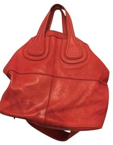 Givenchy Leather Lambskin Nightingale Satchel in Red