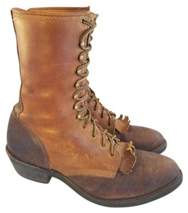 Double-H Boots Bouble H Logger Motorcyle Lineman Goth SADDLE BROWN Boots