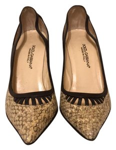 Dolce&Gabbana brown and snakeskin Pumps