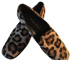 Saint Laurent Leopard Flats