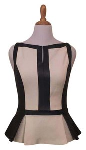 Robert Rodriguez Top Cream with black trim