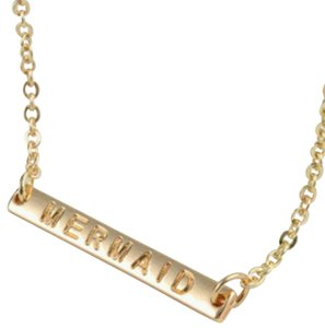 Other Gold bar monogram mermaid necklace
