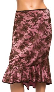 Ingwa Melero Beaded Lace Overlay High-low Skirt Multi-color