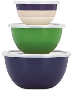 Kate Spade Multicolor New York Rainey Stripe Storage Bowls Serverware