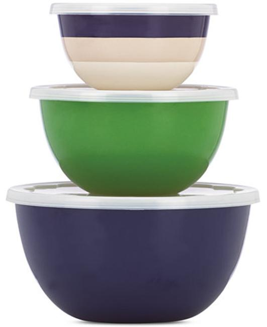 Item - Multicolor New York Rainey Stripe Storage Bowls Serverware