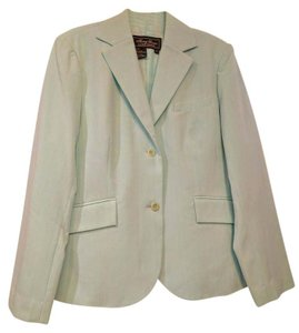 Terry Lewis Classic Luxuries Seafoam Green White Pinstripe Blazer