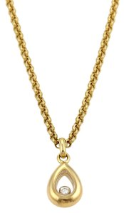 Chopard Chopard Happy Diamond 18k Yellow Gold Pear Shape Pendant Necklace