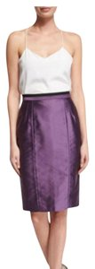 Valentino Luxury Pencil Detail Skirt purple