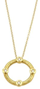 Roberto Coin Roberto Coin 4 Diamond Hoop 18k Yellow Gold Pendant