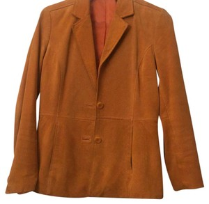 Liz Claiborne Suede Golden Poppy Leather Jacket