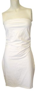 Victoria's Secret short dress White Above Knee Ruched Sides on Tradesy