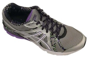 Asics Running Gel Preleus Sneakers Silver, Grey, Purple, White, Green Athletic