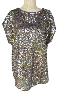 WD.NY #crepe #capsleeve #sequins #gold #nightout Top Gold
