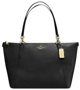 Coach Satchel Leather Satchel Handbag F57526 Tote in black gold tone
