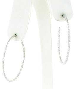 Roberto Coin Earrings Inside Out Hoops 1.40cts Diamonds 18k White Gold