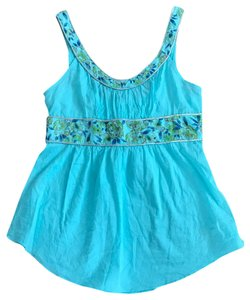 Free People Top Blue & Green