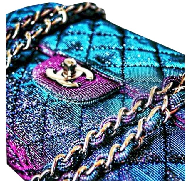 Item - Classic Flap Rare Sold Out Iridescent Jumbo Multi Color Glitter Leather Shoulder Bag