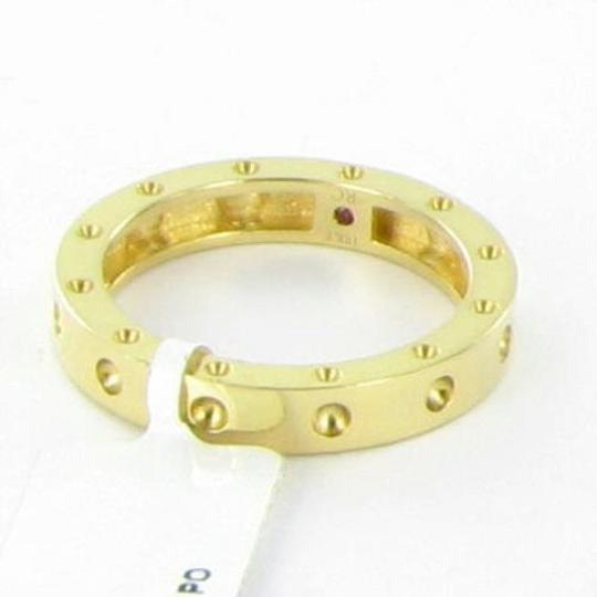 Roberto Coin Pois Moi 3mm Ring Single Row Band 18k Yellow Gold Sz 6.5
