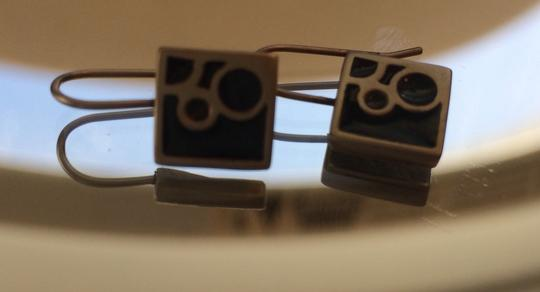 Other Blue Square Mod Enameled Earrings