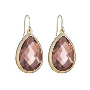 Chloe + Isabel Minaret Light Rose Teardrop Earrings