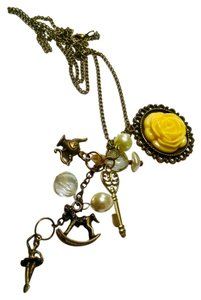 Charm Necklace Long Flower Rocking Horse J730