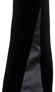 INC International Concepts Velvet Satin Inset Flare Pants Black