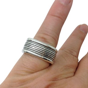 David Yurman size 7 - 7.25, sterling silver, Royal Cord, square, unisex band ring